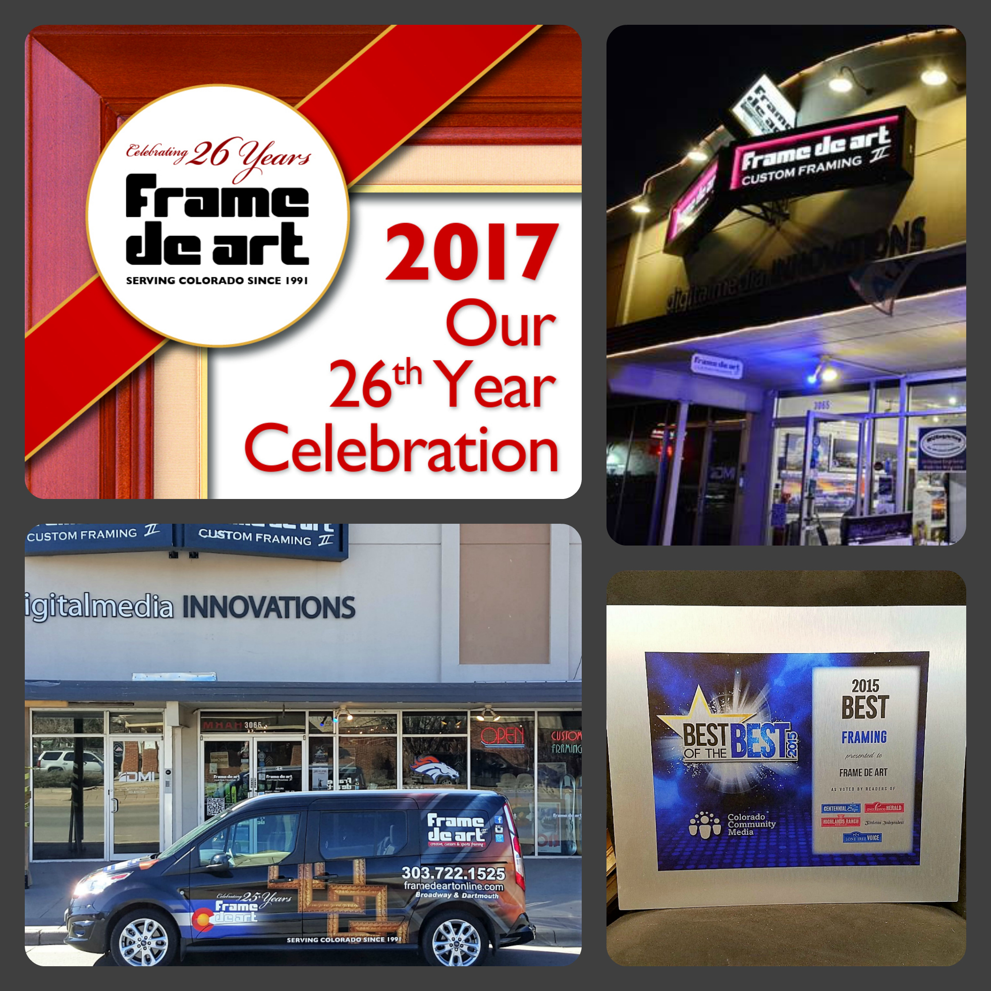 Today is Frame de Art's 26th Anniversary!