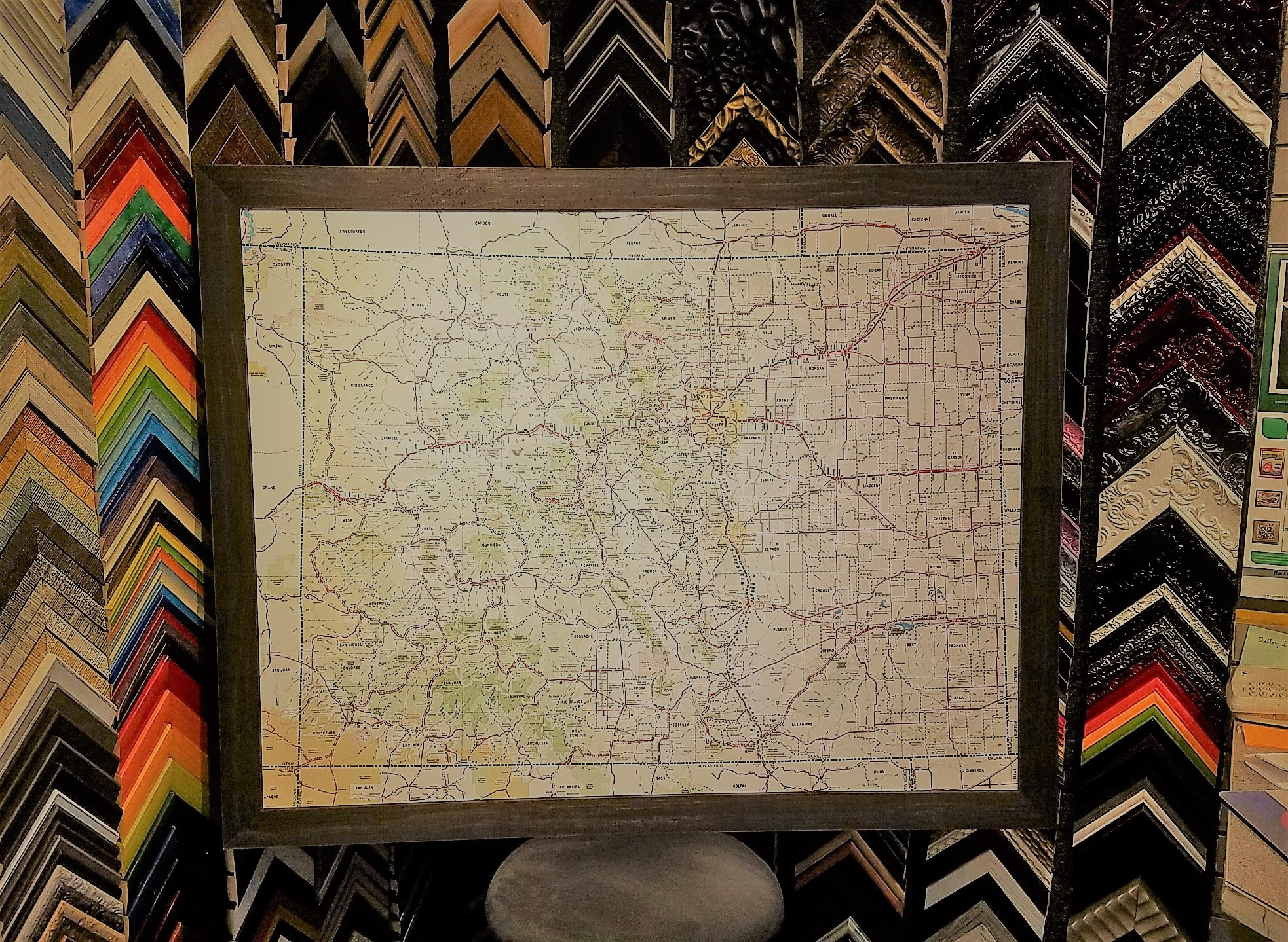 We love framing Colorado maps