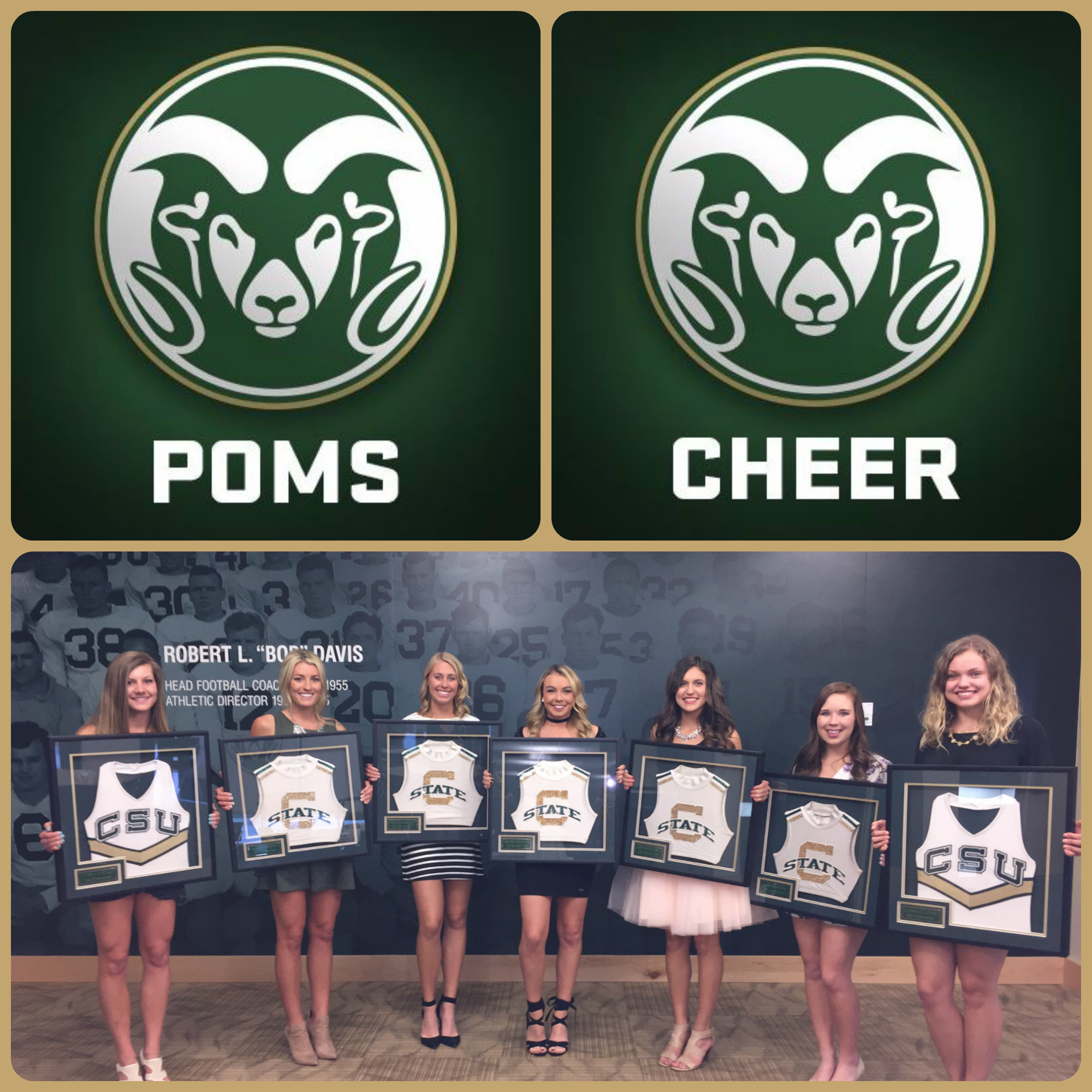 Honored to frame again this year's senior's CSU Cheerleading & Poms