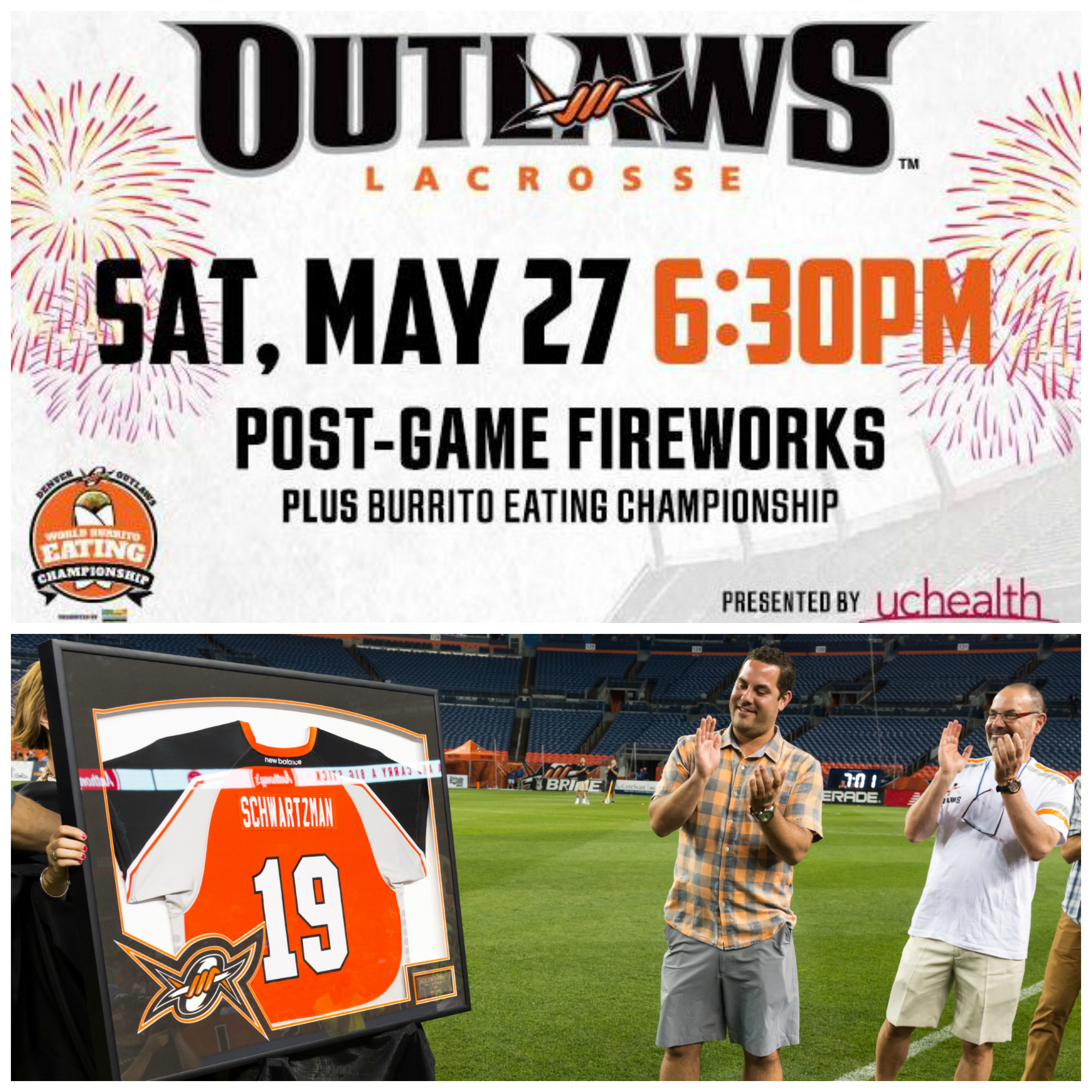 Giving away 4 2nd Row tickets to Denver Outlaws
