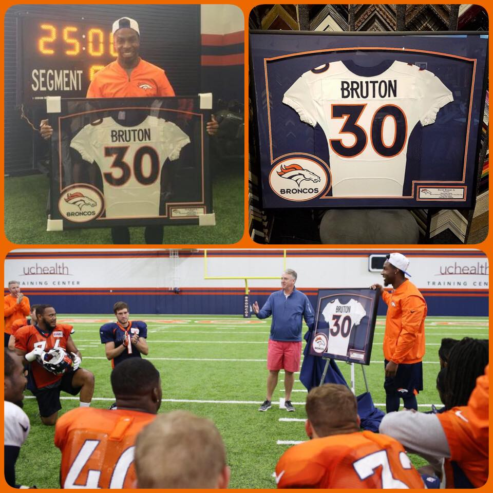 David Bruton Jr. Framed Jersey