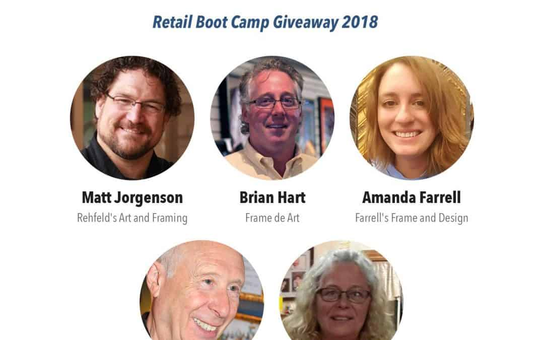 Finalists in the Tru Vue® Retail Boot Camp Giveaway contest