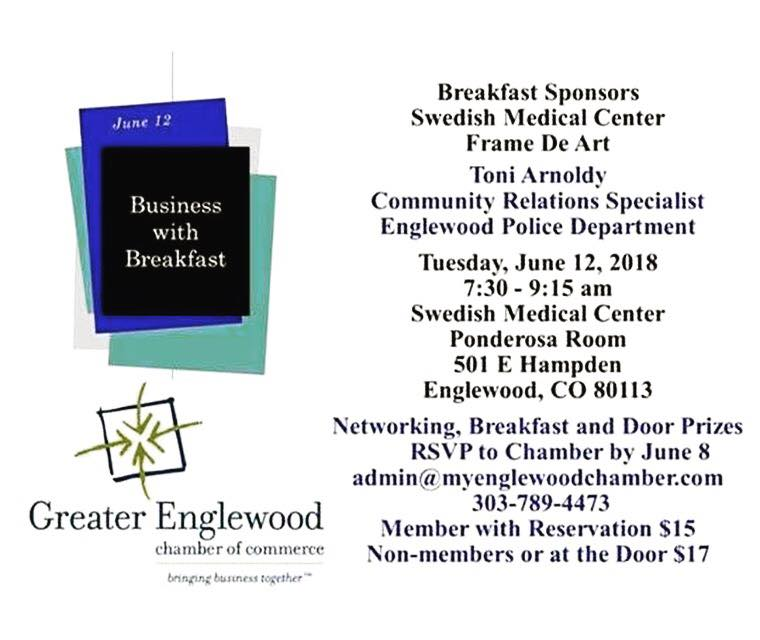 Greater Englewood Chamber's Business with Breakfast on June 12th