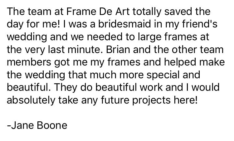 Reviews like this make our day | Frame de Art