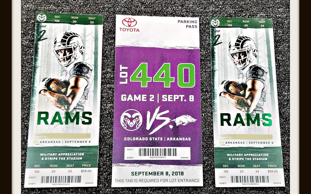Giving away two tickets to the Saturday's game