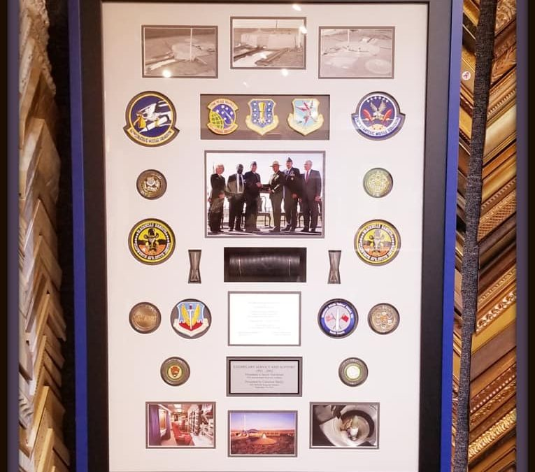 We are OPEN! One of the coolest shadowboxes we just framed!