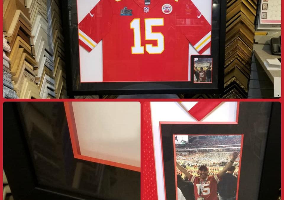 Frame our customer's favorite athletes jersey's