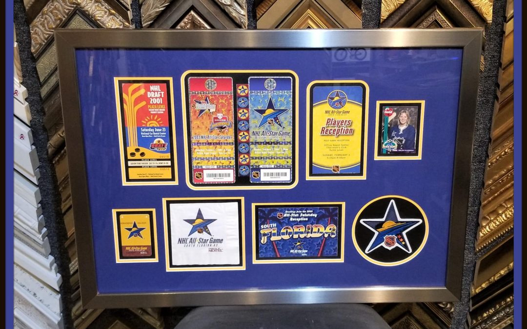 Frame ticket collages