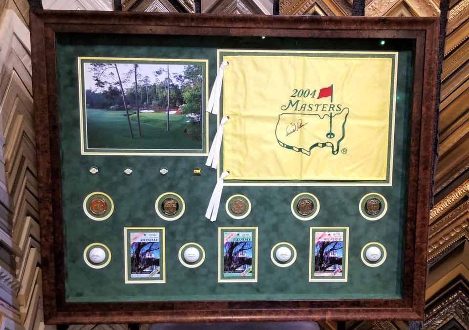 Arnold Palmer Signed Masters Golf Collage