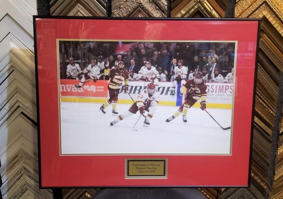 An honor to frame forDenver Hockey